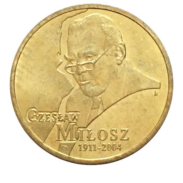 """Poland 2011-2 zlotych /""""Czeslaw Milosz/"""" UNC"""
