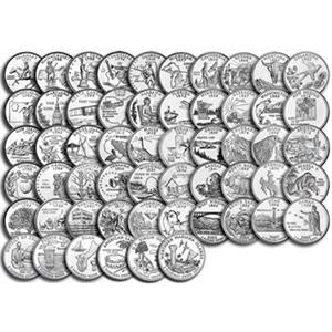 25 центов «56 монет из серии Штаты и Территории США.»