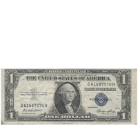 Бона 1 доллар 1935 года «Silver certificate» аверс