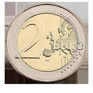 2 евро 2013 года «Люксембург. Национальный Гимн»