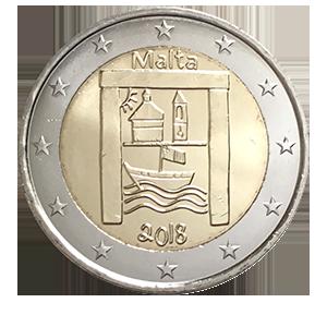 2 евро 2018 года «Мальта. Культурное наследие»