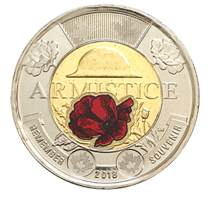 2 доллара 2018 года «100 лет со дня окончания Первой Мировой войны. Цветная»