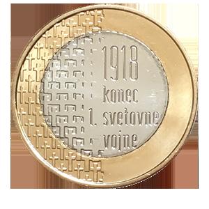 3 евро 2018 года «Словения. 100 лет окончания первой мировой войны»