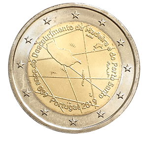 2 евро 2019 года «Португалия. 600 лет острова Мадейра.»