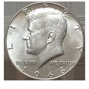 50 центов 1969 года «Джон Кеннеди»