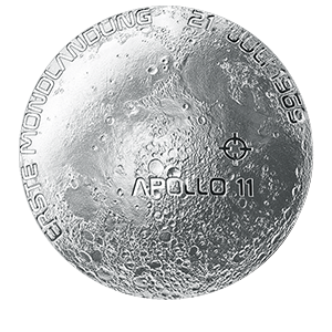 20 евро 2019 года «Австрия. 50-я годовщина высадки на Луну»