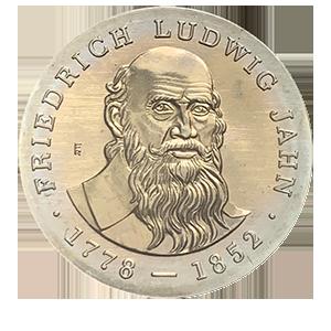 5 марок 1977 года «125 лет со дня смерти Фридриха Людвига Яна»