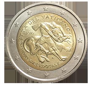 2 евро 2010 года «Ватикан. Международный год Астрономии»