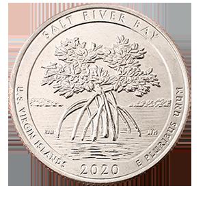 25 центов 2020 года «53-ый парк. Национальный исторический парк и экологический заповедник Бухта Соленой Реки»