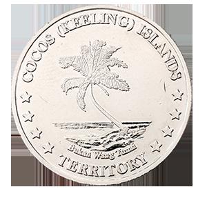 20 центов 2004 года «Кокосовые острова. Рыба - лев»