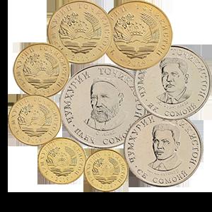 Набор монет 2019 года «Таджикистан»