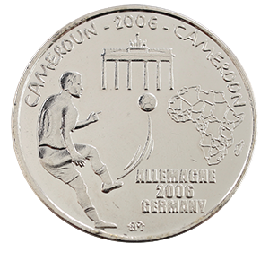 1500 франков 2006 года «Камерун. Чемпионат мира по футболу 2006, Германия»