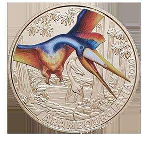 3 евро 2020 года «Австрия. Арамбургиана — самый большой летающий динозавр»
